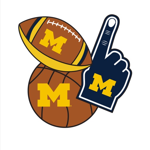 Michigan Wolverines Photo Booth Stickers