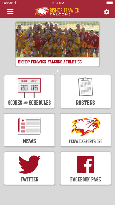 Bishop Fenwick Athletics screenshot 1