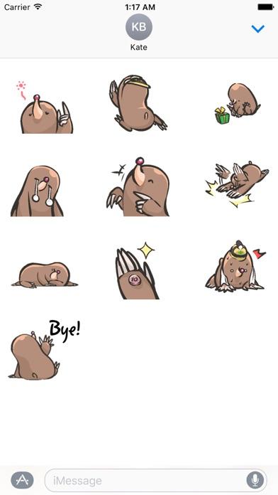 Carefree Groundhog Sticker screenshot 3