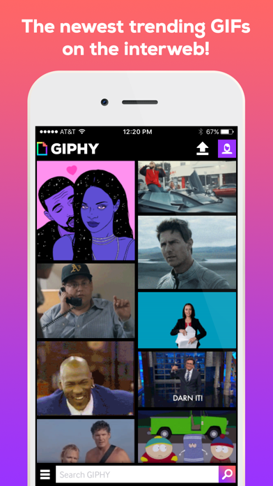 Screenshot 0 for GIPHY's iPhone app'