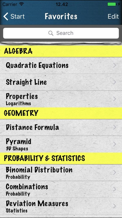 Math Formulas - Ref. Guide