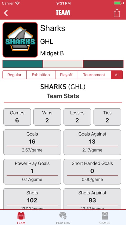 Goaliath Hockey Stats Tracker