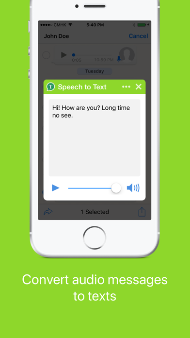 Speech to Text for Whatsapp