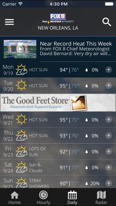Fox 8 Wx review screenshots