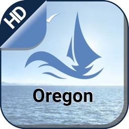Oregon boating offline gps nautical fishing charts