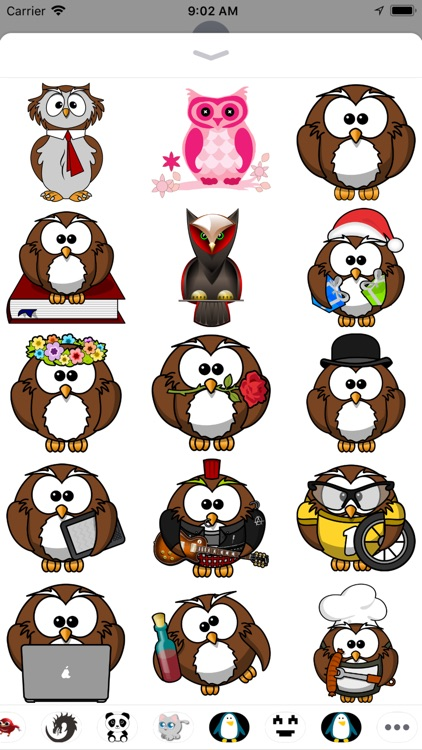 Owl Stickers - 2018