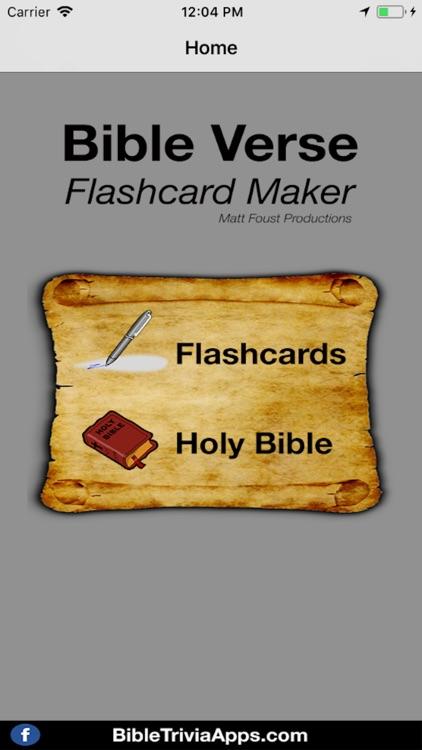 Bible Verse Flashcard Maker