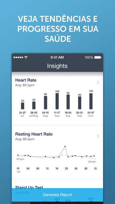 Screenshot for Ritmo Cardíaco Instante+ in Brazil App Store