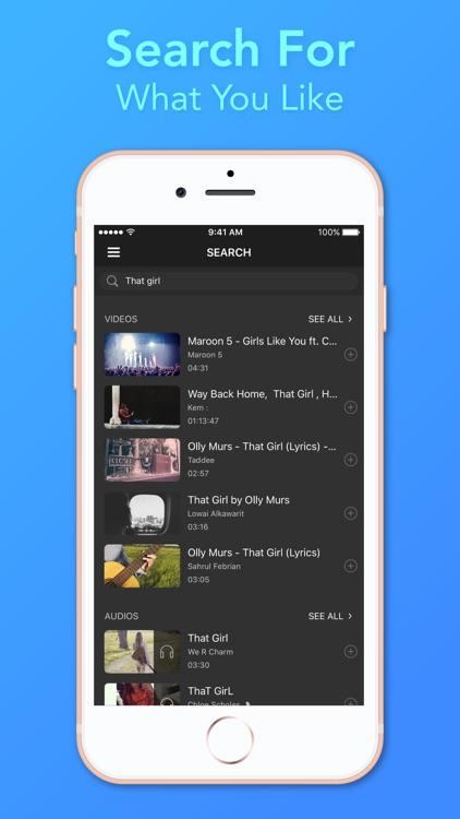 Video Player - Unlimited Music screenshot-3