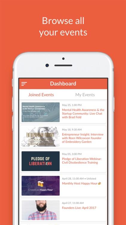 Crowdcast Mobile screenshot-4