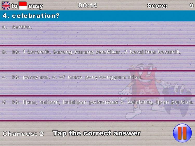 Kamus Lengkap Quiz Game HD screenshot-4