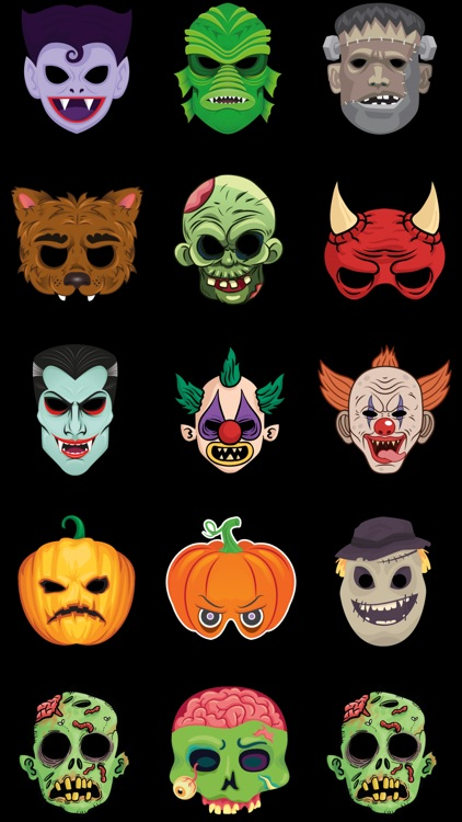 Scary Masks Stickers