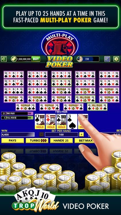 TropWorld Video Poker screenshot-4