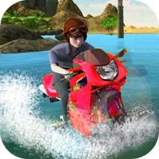 Activities of Water Wave Surfing - Bike rider