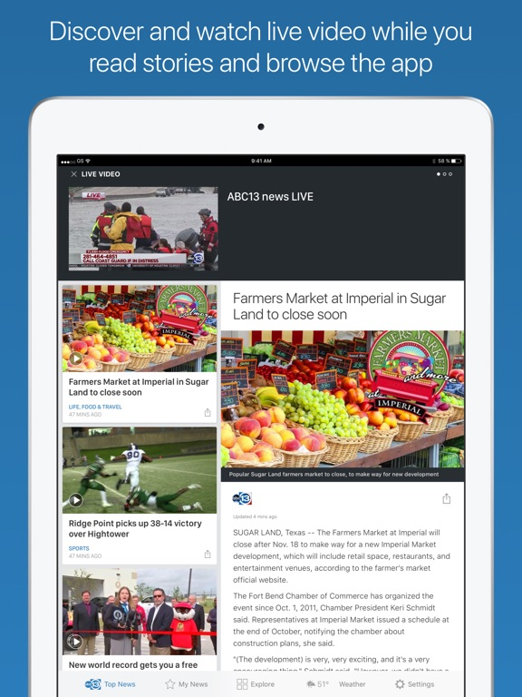 ABC13 Houston iPad