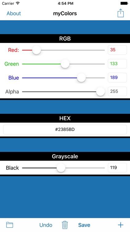 myColors - Cloud Color Picker screenshot-3