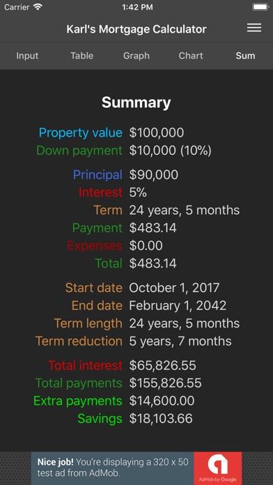 karls mortgage calculator screenshot