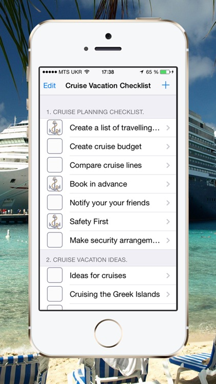 Cruise Vacation Checklist