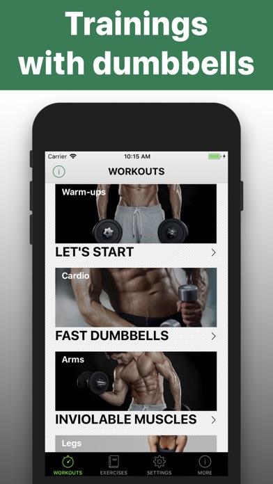 Dumbbell workout HIIT trainerのおすすめ画像1