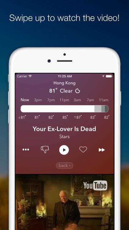 WeatherTunes - Weather based music & forecasting screenshot-3