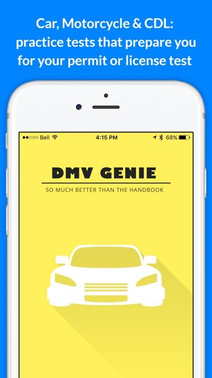 DMV Genie Practice Test: Permit & Driver's License screenshot-0