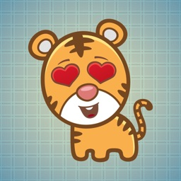 Sticker Me Lovely Tiger
