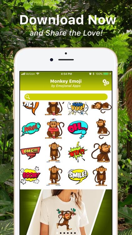 Monkey Emoji Texting Stickers screenshot-4