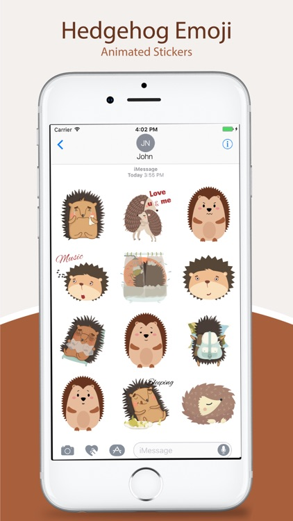 Animated HEDGEHOG Stickers Pack
