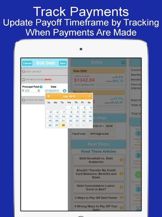debt payoff plannercalculator on the app store