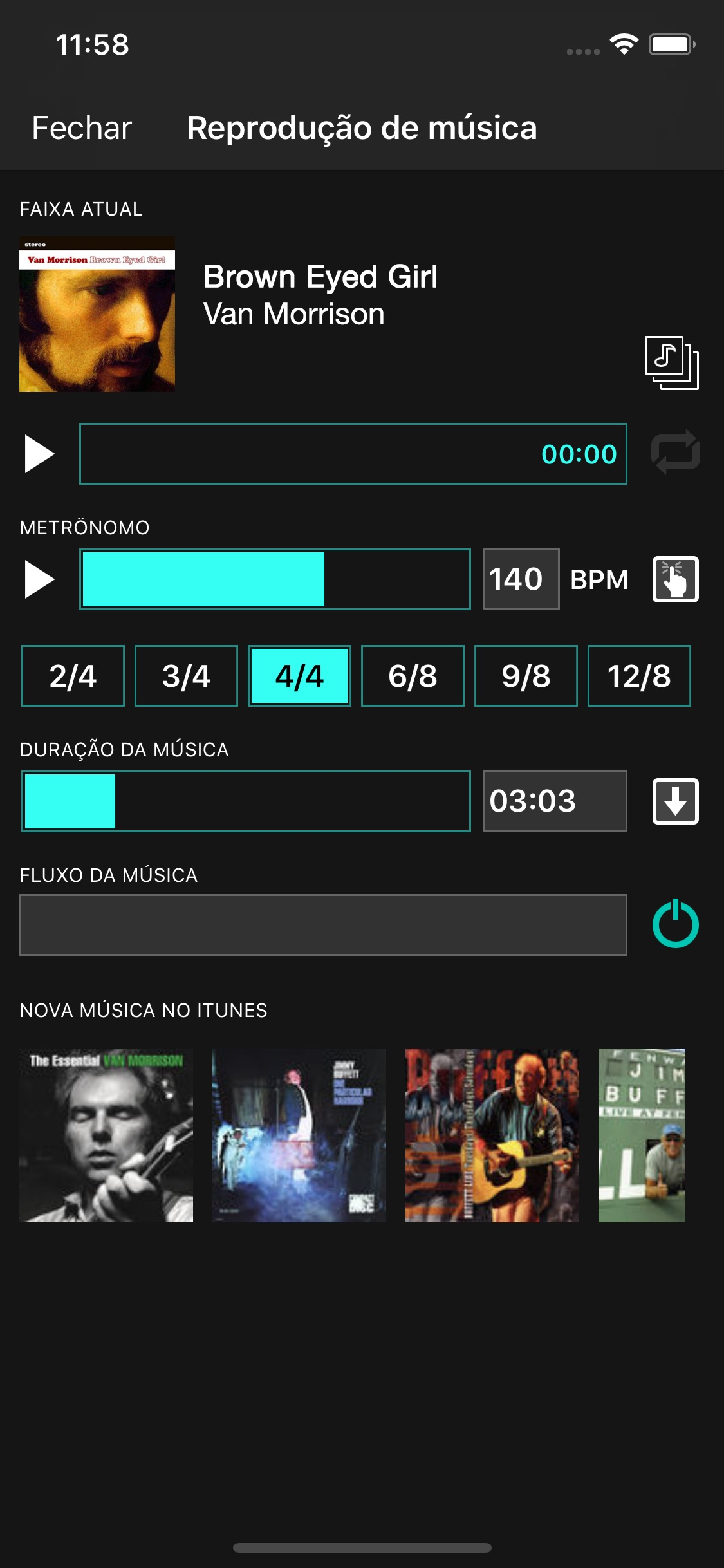 Screenshot do app OnSong Pro