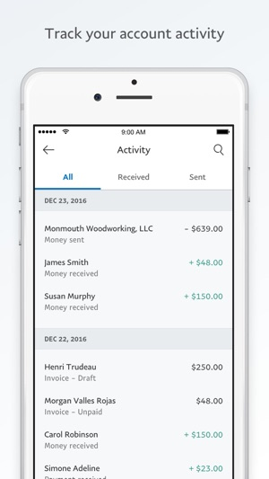 PayPal Business Send Invoices On The App Store - Free business invoices online stores that accept electronic checks