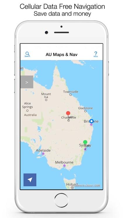 AU Offline Maps and Navigation screenshot-0