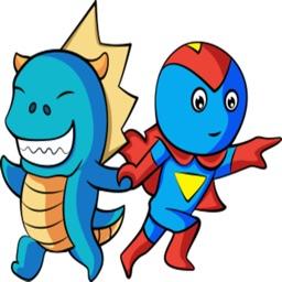 Dino And Hero stickers
