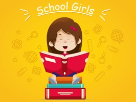 Downloads School Girl Stickers for iMessage