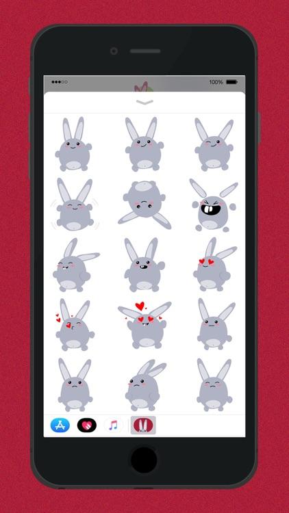 Fun Bunny iMessage Stickers screenshot-4