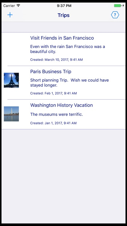 Travelog Notes