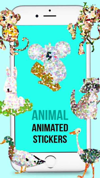 Animated Doted Animals Love Stickers screenshot-4