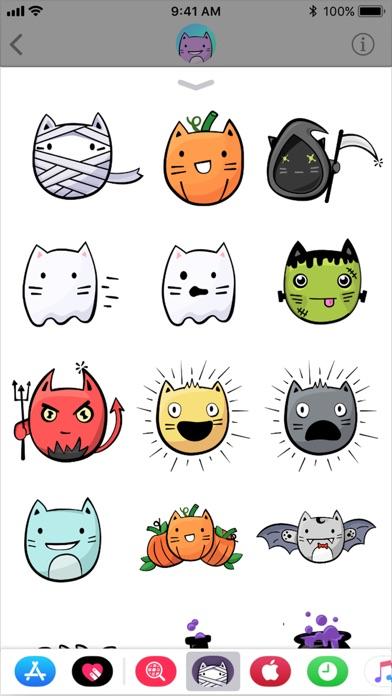 点击获取Cute Cat Halloween Stickers
