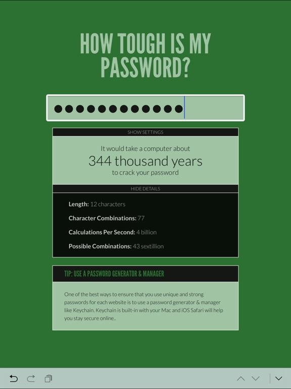 How Tough Is My Password? screenshot 6