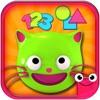 学习颜色、形状和数字的教育性游戏-EduKitty