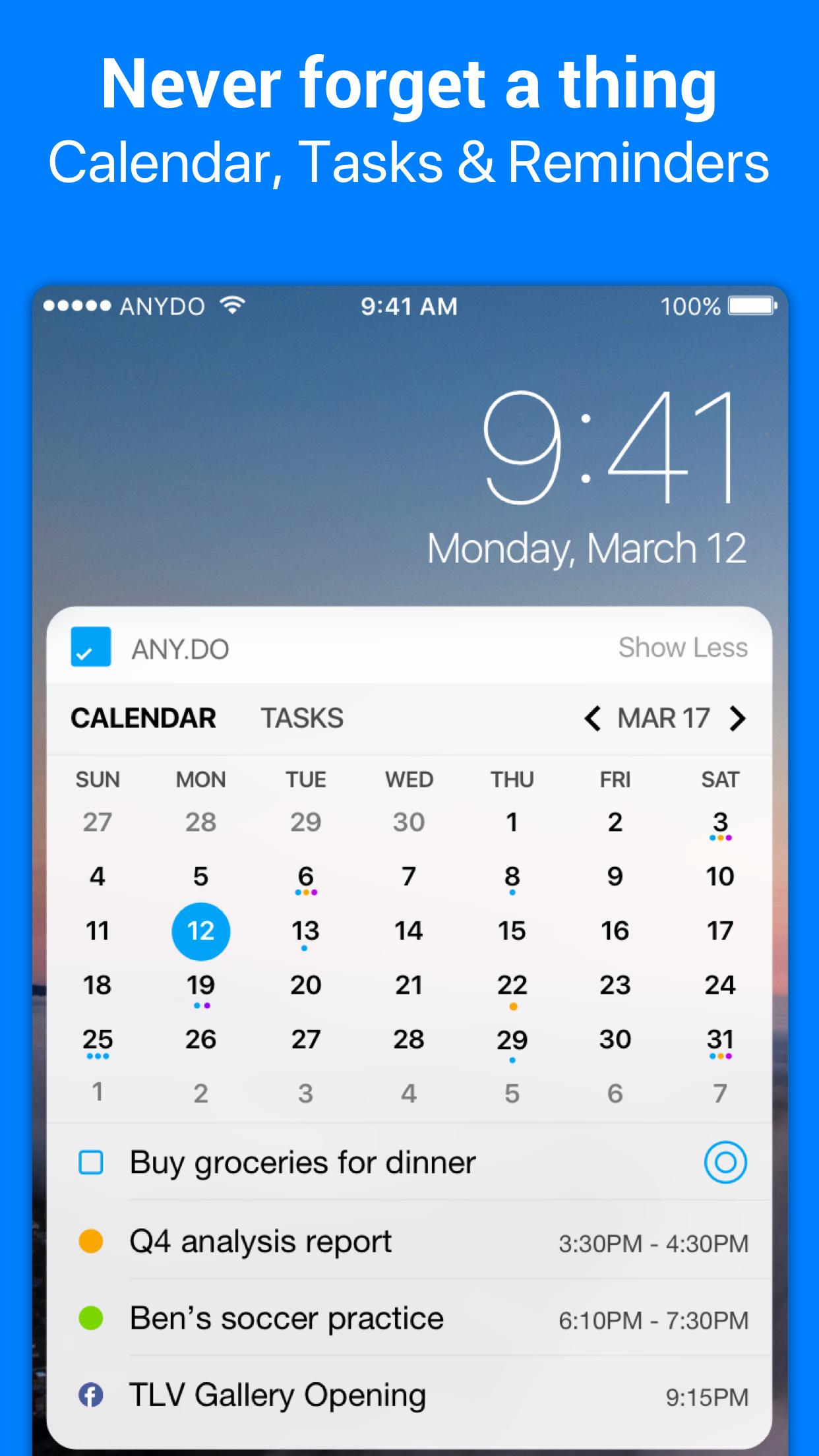 Any.do: To-do list & Calendar Screenshot