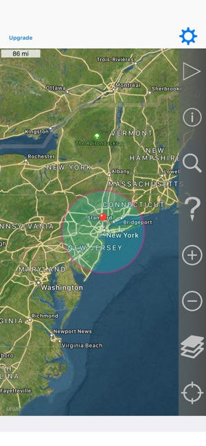 Radius On Map on the App Store on indian point energy center, indian new york power plant, indian point power,