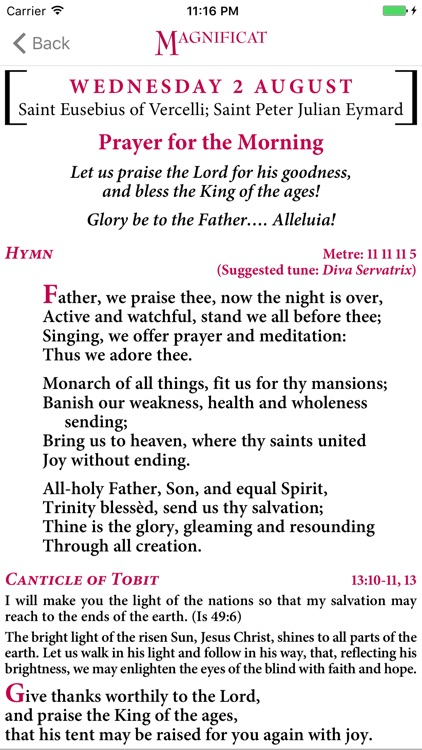 Magnificat English Edition