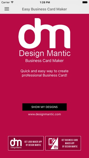 Easy business card maker on the app store screenshots flashek Choice Image