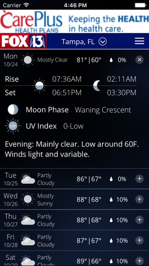 Skytower Radar App From Fox 13 On The App Store