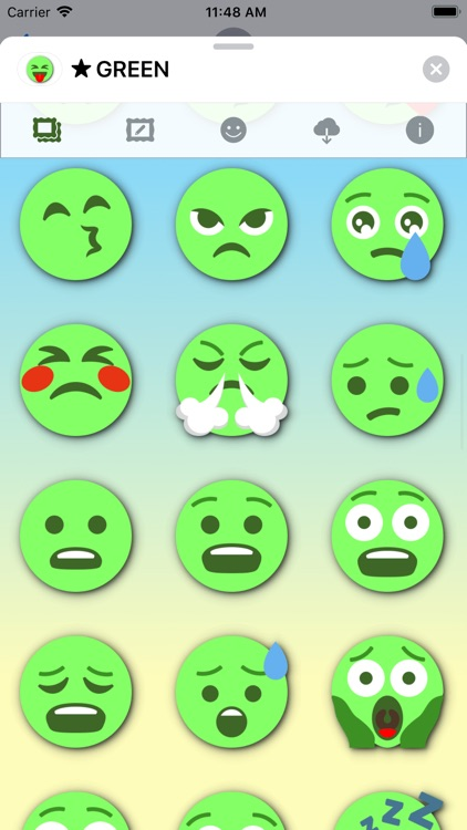 GREEN Emoji • Stickers screenshot-6
