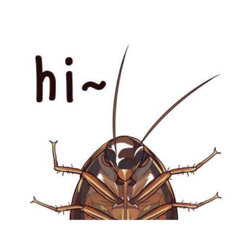 Cockroach Stickers Animated