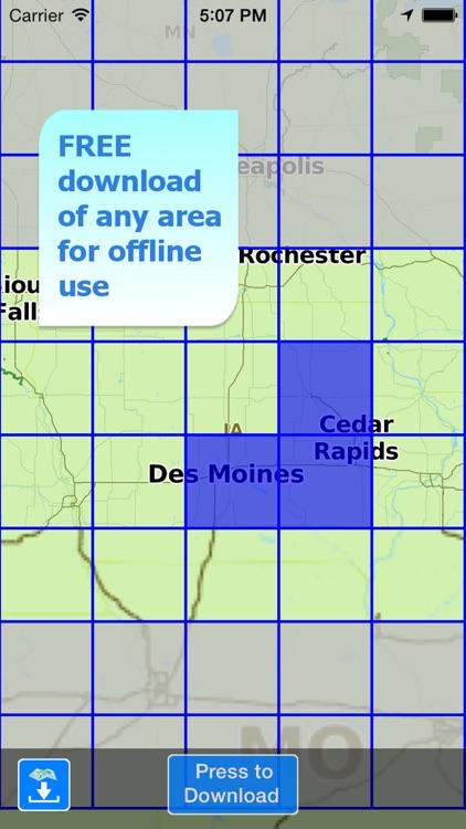 Aqua Map Iowa Lakes GPS screenshot-4