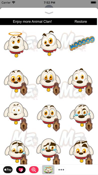 Animal Clan Dog Stickers screenshot two