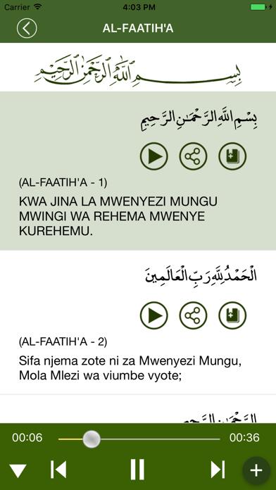 Quran in Swahili screenshot three